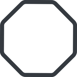 octagon line, normal, octagon free icon 256x256 256x256px