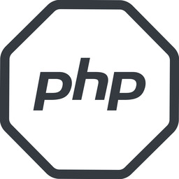 php line, normal, octagon, logo, brand, php, hypertext, preprocessor free icon 256x256 256x256px