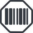 barcode-solid line, normal, solid, octagon, barcode, barcode-solid free icon 128x128 128x128px