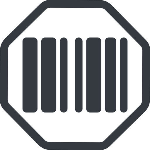 barcode-solid line, normal, solid, octagon, barcode, barcode-solid free icon 512x512 512x512px