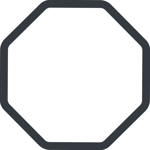 octagon line, normal, octagon free icon 512x512 512x512px