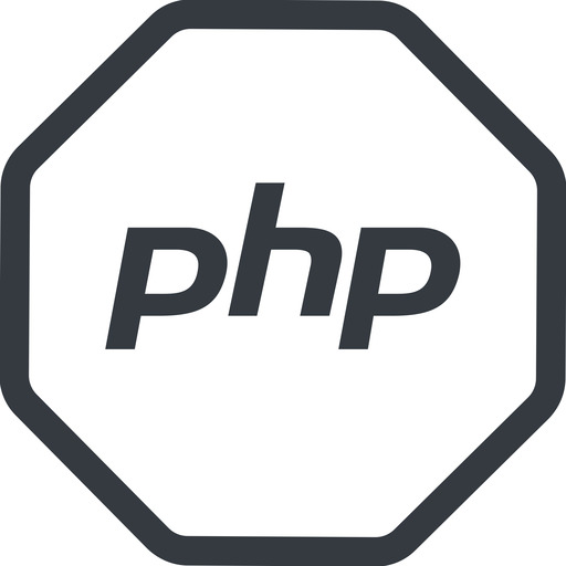 php line, normal, octagon, logo, brand, php, hypertext, preprocessor free icon 512x512 512x512px