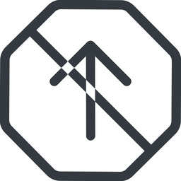 arrow-simple line, up, octagon, arrow, direction, prohibited, arrow-simple free icon 256x256 256x256px