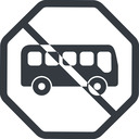 bus-side line, normal, wide, octagon, car, vehicle, transport, prohibited, bus, side, bus-side free icon 128x128 128x128px