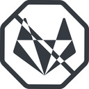 gitlab-alt-solid line, normal, solid, octagon, brand, social, network, prohibited, repo, gitlab, gitlab-alt, gitlab-alt-solid, wolf free icon 128x128 128x128px
