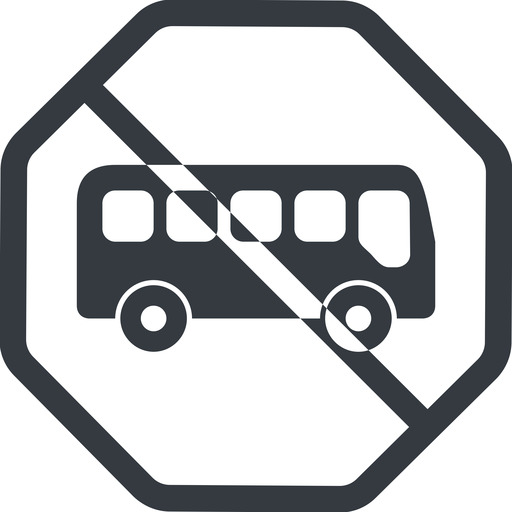 bus-side line, normal, wide, octagon, car, vehicle, transport, prohibited, bus, side, bus-side free icon 512x512 512x512px