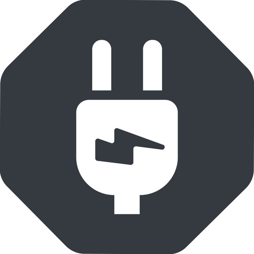 plug-alt left, normal, solid, octagon, electricity, plug, charge, charger, electric, electrics, electrical, plug-alt free icon 512x512 512x512px