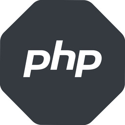 php normal, solid, octagon, logo, brand, php, hypertext, preprocessor free icon 256x256 256x256px
