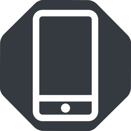 smartphone up, normal, solid, octagon, iphone, phone, android, gsm, smartphone, cell free icon 256x256 256x256px
