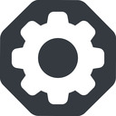 setting-solid normal, solid, octagon, setting, config, gear, wheel, settings, cog, setting-solid free icon 128x128 128x128px
