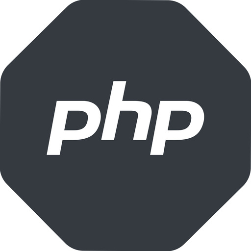 php normal, solid, octagon, logo, brand, php, hypertext, preprocessor free icon 512x512 512x512px