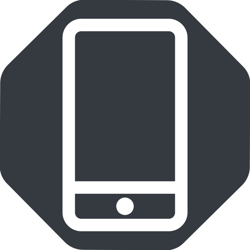 smartphone up, normal, solid, octagon, iphone, phone, android, gsm, smartphone, cell free icon 512x512 512x512px