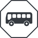 bus-side thin, line, wide, octagon, horizontal, mirror, car, vehicle, transport, bus, side, bus-side free icon 128x128 128x128px