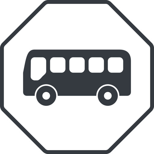 bus-side thin, line, wide, octagon, horizontal, mirror, car, vehicle, transport, bus, side, bus-side free icon 512x512 512x512px