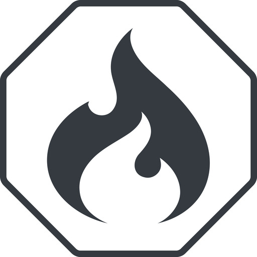 codeigniter thin, line, octagon, logo, brand, icon, horizontal, mirror, codeigniter, igniter, code, php, framework, flame, fire free icon 512x512 512x512px