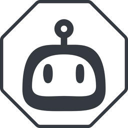 robot-rounded thin, line, up, octagon, rounded, robot, robotics, face, robot-rounded free icon 256x256 256x256px