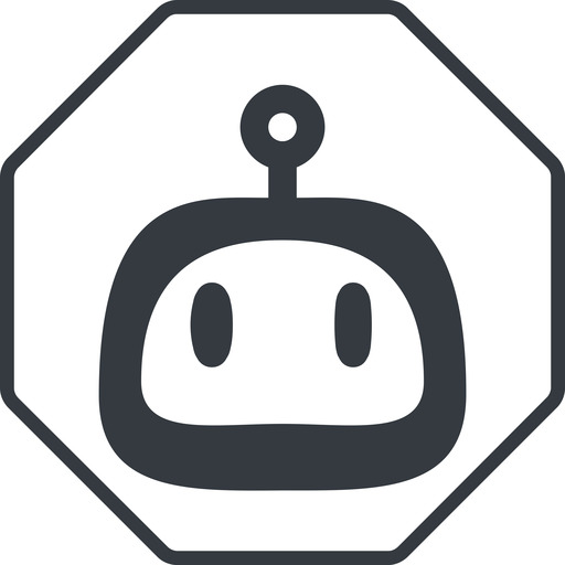 robot-rounded thin, line, up, octagon, rounded, robot, robotics, face, robot-rounded free icon 512x512 512x512px
