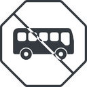 bus-side thin, line, wide, octagon, car, vehicle, transport, prohibited, bus, side, bus-side free icon 128x128 128x128px