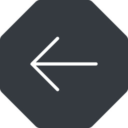 arrow-simple-thin thin, left, solid, octagon, arrow, direction, arrow-simple-thin free icon 256x256 256x256px