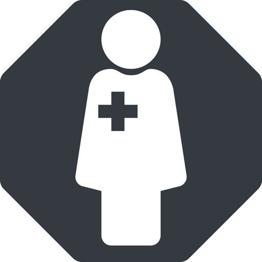 female-nurse-solid thin, solid, octagon, horizontal, mirror, nurse, medical, healthcare, health, female, medic, female-nurse, doctor, hospital, female-nurse-solid free icon 512x512 512x512px