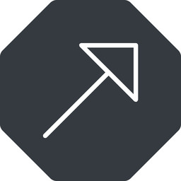 arrow-corner-thin thin, up, solid, octagon, arrow, corner, arrow-corner-thin free icon 256x256 256x256px