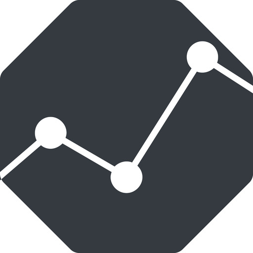 analytics-thin thin, up, solid, octagon, graph, analytics, chart, analytics-thin free icon 512x512 512x512px
