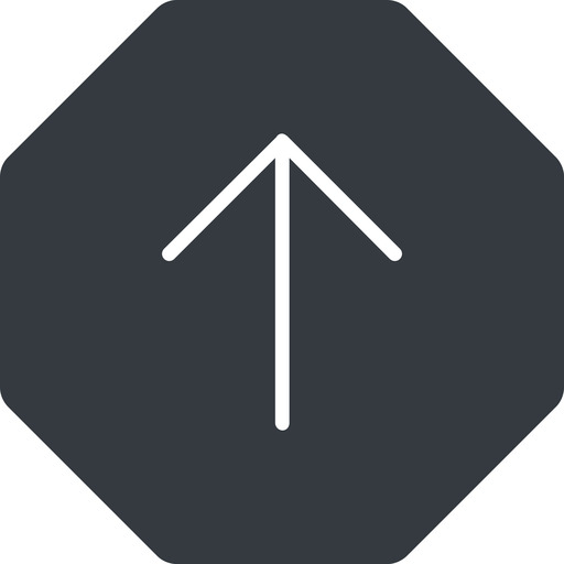 arrow-simple-thin thin, up, solid, octagon, arrow, direction, arrow-simple-thin free icon 512x512 512x512px