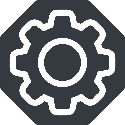 setting-thin thin, solid, octagon, setting, config, gear, wheel, settings, cog, setting-thin free icon 512x512 512x512px