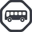 bus-side line, wide, octagon, horizontal, mirror, car, vehicle, transport, bus, side, bus-side free icon 128x128 128x128px