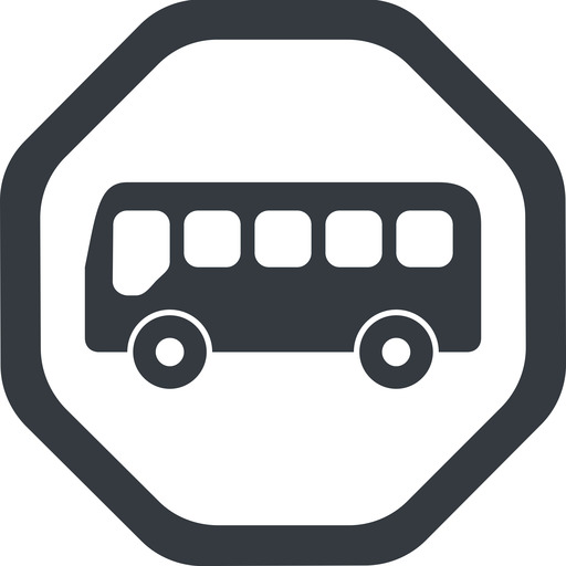 bus-side line, wide, octagon, horizontal, mirror, car, vehicle, transport, bus, side, bus-side free icon 512x512 512x512px