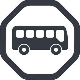 bus-side line, wide, octagon, car, vehicle, transport, bus, side, bus-side free icon 256x256 256x256px