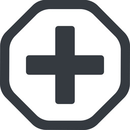 plus-solid line, octagon, plus, add, new, medical, plus-solid, create, addition, +, more, medic free icon 256x256 256x256px