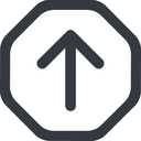 arrow-simple-wide line, up, octagon, arrow, direction, arrow-simple-wide free icon 128x128 128x128px