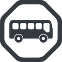bus-side line, wide, octagon, car, vehicle, transport, bus, side, bus-side free icon 128x128 128x128px
