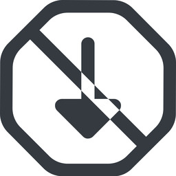 arrow-solid line, down, wide, octagon, arrow, prohibited, arrow-solid free icon 256x256 256x256px