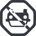 car-front-small down, octagon, car, front, vehicle, transport, car-front-small free icon 128x128 128x128px