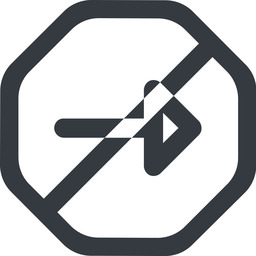 arrow-wide line, right, wide, octagon, arrow, prohibited, arrow-wide free icon 256x256 256x256px
