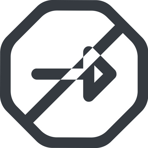 arrow-wide line, right, wide, octagon, arrow, prohibited, arrow-wide free icon 512x512 512x512px