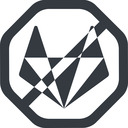 gitlab-alt-solid line, wide, solid, octagon, brand, horizontal, mirror, social, network, prohibited, repo, gitlab, gitlab-alt, gitlab-alt-solid, wolf free icon 128x128 128x128px