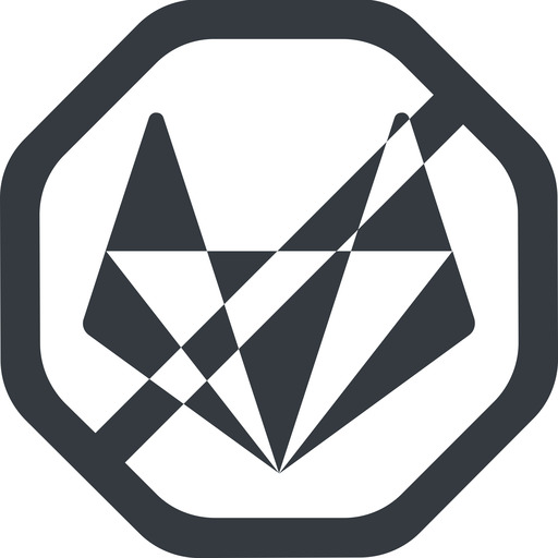 gitlab-alt-solid line, wide, solid, octagon, brand, horizontal, mirror, social, network, prohibited, repo, gitlab, gitlab-alt, gitlab-alt-solid, wolf free icon 512x512 512x512px