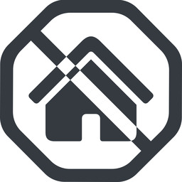 home-small-solid line, wide, solid, octagon, small, home, prohibited, home-small-solid free icon 256x256 256x256px