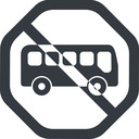 bus-side line, wide, octagon, car, vehicle, transport, prohibited, bus, side, bus-side free icon 128x128 128x128px