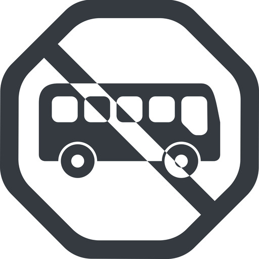 bus-side line, wide, octagon, car, vehicle, transport, prohibited, bus, side, bus-side free icon 512x512 512x512px