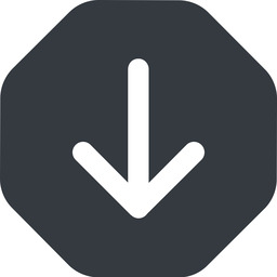 arrow-simple-wide down, solid, octagon, arrow, direction, arrow-simple-wide free icon 256x256 256x256px