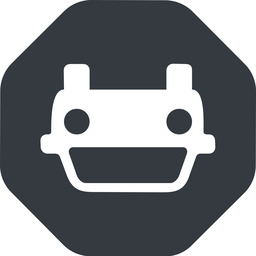 car-front-small down, solid, octagon, car, front, vehicle, transport, car-front-small free icon 256x256 256x256px