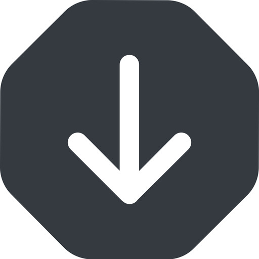arrow-simple-wide down, solid, octagon, arrow, direction, arrow-simple-wide free icon 512x512 512x512px