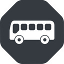 bus-side wide, solid, octagon, horizontal, mirror, car, vehicle, transport, bus, side, bus-side free icon 128x128 128x128px