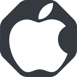 apple wide, solid, octagon, logo, brand, apple, macintosh, itunes, ipad, iphone, ipod free icon 256x256 256x256px