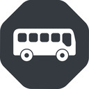 bus-side wide, solid, octagon, car, vehicle, transport, bus, side, bus-side free icon 128x128 128x128px
