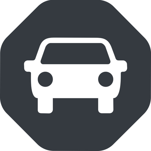 car-front-small up, solid, octagon, car, front, vehicle, transport, car-front-small free icon 512x512 512x512px